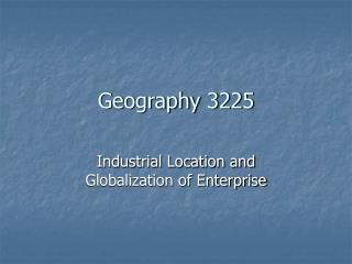 Geography 3225