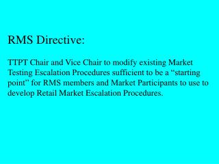 RMS Directive: