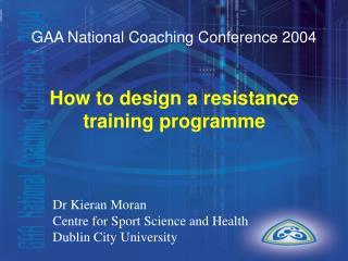 GAA National Coaching Conference 2004