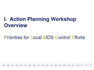 I.  Action Planning Workshop Overview P riorities for  L ocal  A IDS  C ontrol  E fforts