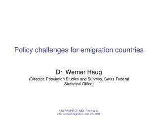 Policy challenges for emigration countries