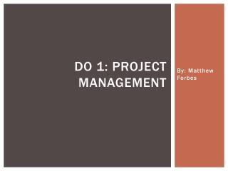 Do 1: Project Management