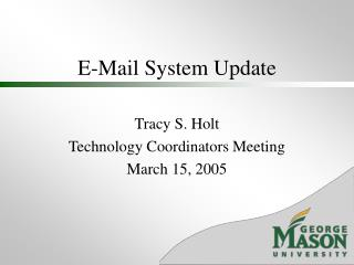 E-Mail System Update