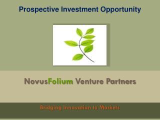 Novus Folium  Venture Partners