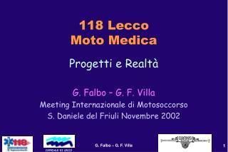 118 Lecco Moto Medica