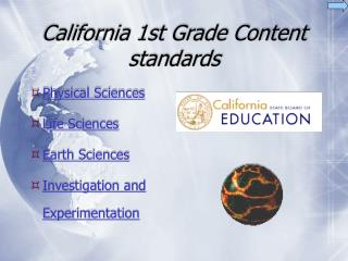 California 1st Grade Content standards