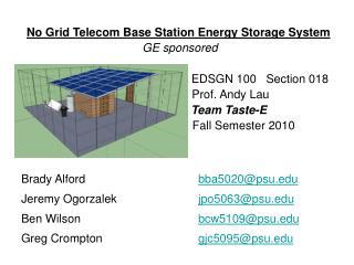 No Grid Telecom Base Station Energy Storage System  GE sponsored