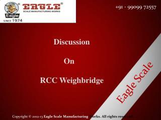 RCC weighbridge manufacturer and exporter