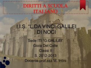 DIRITTI A SCUOLA ITALIANO