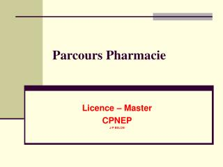Parcours Pharmacie