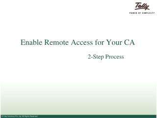 Enable Remote Access for Your CA