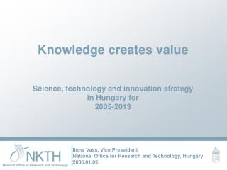 Knowledge creates value