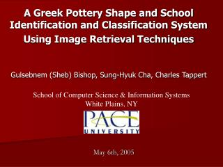 A Greek Pottery Shape and School Identification and Classification System