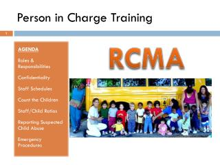 Person in Charge Training