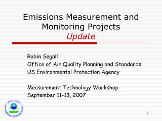 Emissions Measurement and Monitoring Projects Update