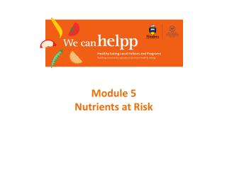 Module 5 Nutrients at Risk