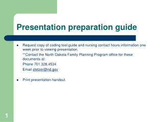 Presentation preparation guide
