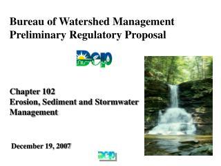 Bureau of Watershed Management Preliminary Regulatory Proposal