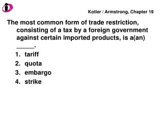 The General Agreement on Tariffs and Trade (GATT) was signed in ______. 2004 1947 2001 1991