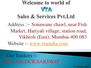 Welcome to world of   Sales & Services Pvt.Ltd