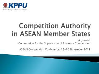 Competition Authority  in ASEAN Member States