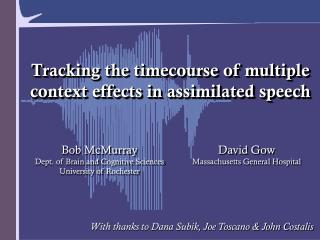 Tracking the timecourse of multiple context effects in assimilated speech