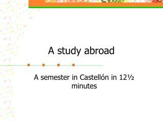 A study abroad