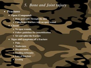 5.  Bone and Joint Injury