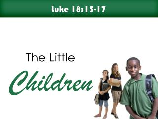 Children matter to Jesus!