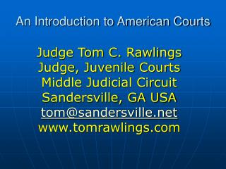 An Introduction to American Courts