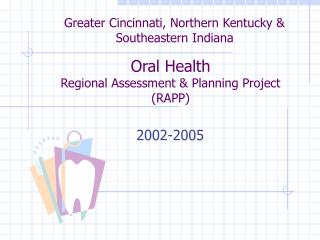 Oral Health Regional Assessment & Planning Project (RAPP)