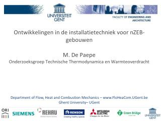 Department of Flow, Heat and Combustion Mechanics � FloHeaCom.UGent.be