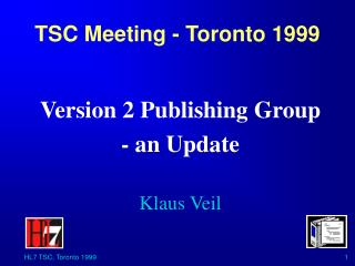 TSC Meeting - Toronto 1999