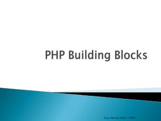 PHP Building Blocks