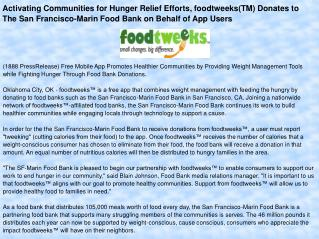 Activating Communities for Hunger Relief Efforts