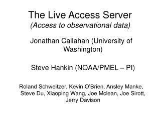 The Live Access Server (Access to observational data)