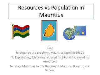 Resources  vs  Population in  M auritius
