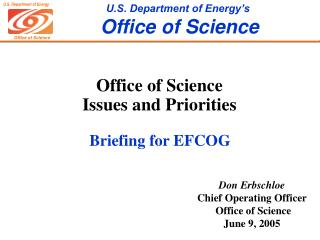 Office of Science Issues and Priorities