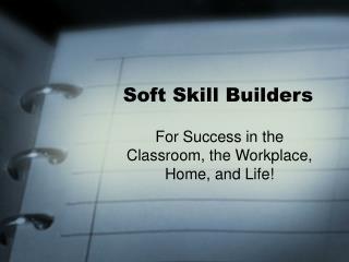 Soft Skill Builders