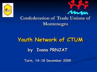 Youth Network of CTUM by Ivana PRNJAT Turin, 14-18 December 2009