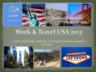 Work  &  Travel  USA 2013