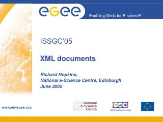 ISSGC'05 XML documents