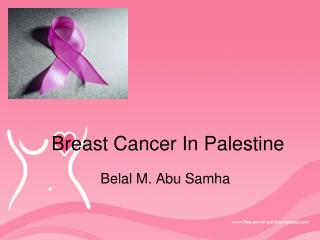 Breast Cancer  In Palestine