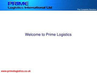 Welcome to Prime Logistics