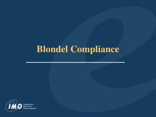 Blondel Compliance