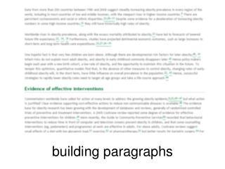 building paragraphs
