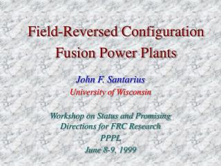 Field-Reversed Configuration Fusion Power Plants