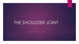 Chronic Scapulothoracic Pain or  Chronic Shoulder Pain