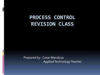 PROCESS CONTROL REVISION CLASS