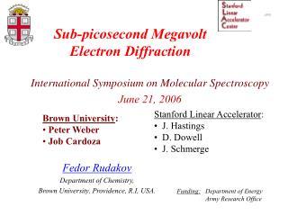 Sub-picosecond Megavolt  Electron Diffraction
